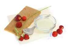 Crispbread and wild berries. Royalty Free Stock Photos