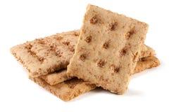 3 crispbreads зерна изолированного на белой предпосылке Стоковая Фотография
