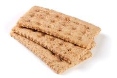 3 crispbreads зерна изолированного на белой предпосылке Стоковые Изображения