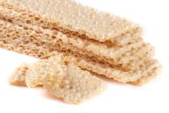 Crispbreads зерна изолированные на белой предпосылке Стоковое Изображение RF