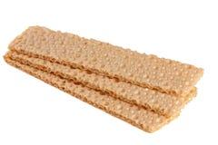Crispbreads зерна изолированные на белой предпосылке Стоковое Фото