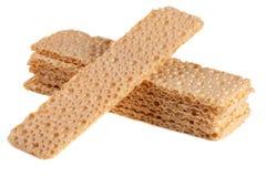 Crispbreads зерна изолированные на белой предпосылке Стоковые Фото