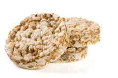 Crispbreads зерна изолированные на белой предпосылке Стоковое фото RF