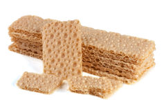 Crispbreads зерна изолированные на белой предпосылке Стоковые Изображения