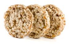 Crispbreads зерна на белой предпосылке Стоковые Фотографии RF