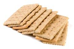 Crispbreads зерна на белой предпосылке Стоковое Фото