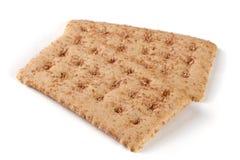 2 crispbreads зерна на белой предпосылке Стоковая Фотография RF
