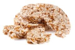 Crispbreads зерна на белой предпосылке Стоковые Изображения
