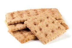 3 crispbreads зерна на белой предпосылке Стоковое Изображение RF