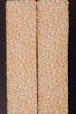 2 crispbreads зерна на темной предпосылке Стоковые Фото