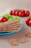 Crispbreads with cherry tomato Stock Photo