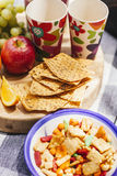 Crispbreads and picnic snacks Stock Image