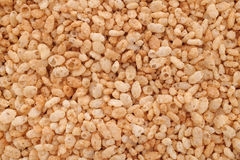 Crisped puffed rice breakfast cereal background Stock Images