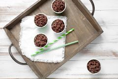 Crispies do chocolate Foto de Stock