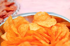 Crisps in a bowl Royalty Free Stock Photo