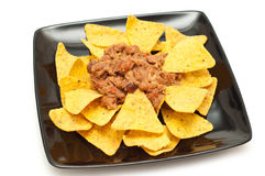 Crisps with chilli bean spicy sauce Stock Image