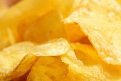 Crisps closeup Stock Image