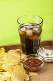 Crisps and coke Stock Photo