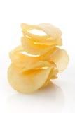 Crisps on white background. Royalty Free Stock Images