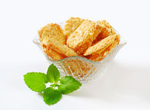 Crispy almond sandwich cookies Stock Image