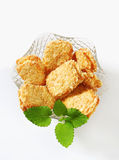 Crispy almond sandwich cookies Stock Photo