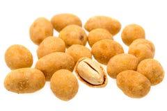 Crispy arachid odizolowywający na białym tle Zdjęcie Royalty Free