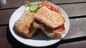 Crispy bacon ciabtta Royalty Free Stock Photo