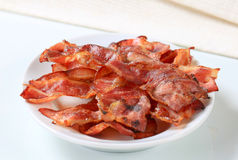 Crispy bacon strips Royalty Free Stock Photos