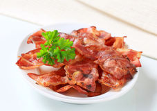 Crispy bacon strips Stock Photos