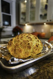 Crispy, baked cauliflower fresh from the oven on cooking pan Stock Photography