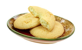 Crispy Baked and Split Snack Biscuits Royalty Free Stock Photo