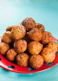 Crispy balls. Crispy cheese balls deep fried on a plate Royalty Free Stock Photo