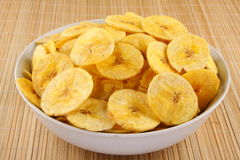 Crispy Banana chips. Royalty Free Stock Photography