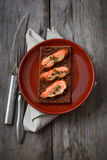Crispy battered salmon Royalty Free Stock Photos