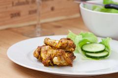 Crispy bbq chicken Royalty Free Stock Image