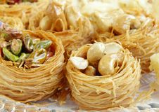 Crispy birds nest baklava Royalty Free Stock Photography