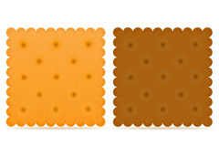 Crispy biscuit cookie vector illustration Royalty Free Stock Image