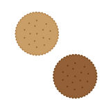Crispy biscuit cookie. Vector illustration isolated on white  background Royalty Free Stock Photos