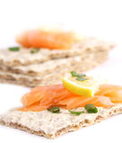 Crispy bread sandwiches royalty free stock images