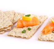 Crispy bread sandwiches stock image