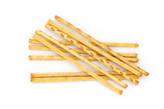 crispy bread straw on white background. Royalty Free Stock Image