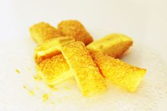 Crispy bread with sugar Stock Photo