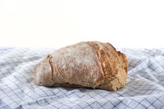 Crispy bread on white background. Delicious bread on white background so it is isolated and look really good Stock Photography
