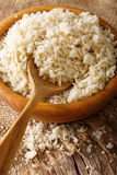 Crispy breadcrumbs Panko for breading in a bowl macro. Vertical Stock Images