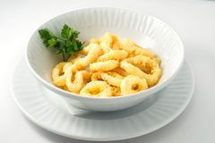 Crispy breaded squid rings Stock Photography