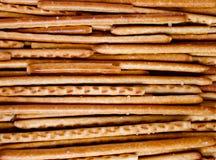 Crispy breadsticks. Crispy fried breadsticks with salt Royalty Free Stock Photos