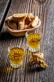 Crispy cantucci with peanut Royalty Free Stock Photo