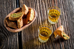 Crispy cantucci with Vin Santo Stock Image