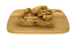 Crispy Cantuccini Chocolate Chips Stock Images