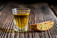 Crispy cantuccini with Vin Santo Stock Images